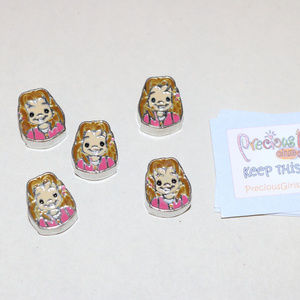 Precious Moments Accessories - Precious Moments Beads Crafts Lot of 5 Girl Beads